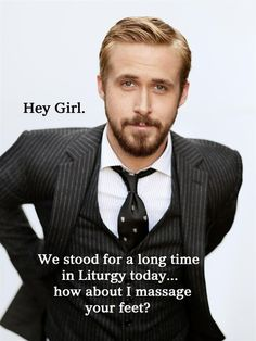 I have to... can't believe Eastern Orthodox and Ryan Gosling have been combined for anything. lol