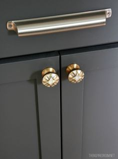 Mixing Hardware in the Kitchen - Silver and Brass :  My Thoughts on Brass & Trends {A Reader Design Question}