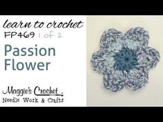 Crochet FREE Pattern - PART 1 of 2 - Passion Flower - RIGHT HANDED, thanks so xox