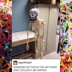 *Papyrus voice* HUMANS USE NAKED SKELETONS FOR DECORATION!?WHAT!?!?  *Sans voice* you people are sick