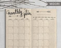 Printable Daily Bullet Journal Inserts Midori Daily