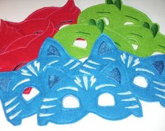 IN STOCK & On Sale !!!!, PJ Mask inspired Superheros Party Pack - Cat Boy, Gekko, Owlette Most orders ship within 3-5 bus days