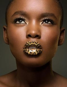 cheetah lip stick. LIKE us: https://www.facebook.com/MahoganySun