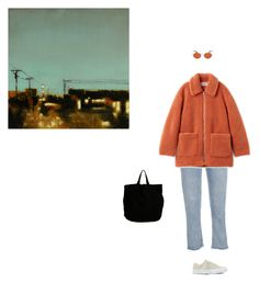 """Art studio"" by olivetone ❤ liked on Polyvore featuring Converse, Oliver Peoples and DRKSHDW"