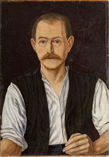 Self-Portrait (1918) by Adolf Dietrich (1877-1957), Swiss naive artist who came to be associated with the New Objectivity movement (artnowandthen - wiki)