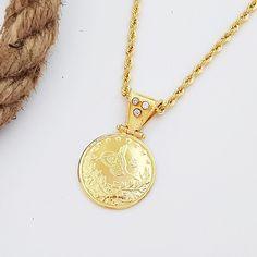 On Çeyrek Altınlı Halat Zincirli Kolye Gold Necklace, Pendant Necklace, Jewelry, Necklaces, Gold Pendant Necklace, Jewlery, Jewerly, Schmuck, Jewels