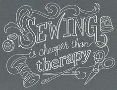 Sewing Is Cheaper than Therapy design (UT12877) from UrbanThreads.com                                                                                                                                                                                 More