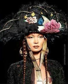 .Fancy black hat