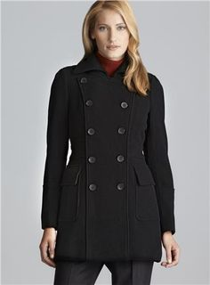 Andrew Marc Double Breasted Plush Wool Coat (Andrew Marc 636012700), Women's Outerwear Coats | Loehmann's