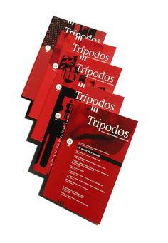 Revista Trípodos. Cobertes. Facultat de Comunicació Blanquerna, Universitat Ramon Llull, 2002-04