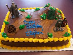 Lord of the Rings cake- Matthew wants LOTR for his birthday cake.