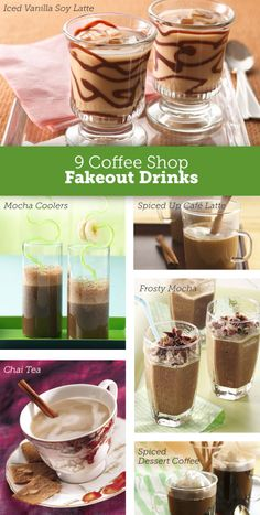 Save cash and make those coffee shop drinks at home >>  9 copycat recipes to try.