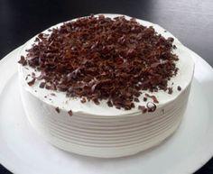 パッションフルーツとチョコレートのショートケーキ
