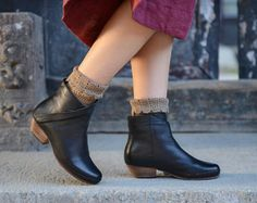 Large Size Handmade Brown BootsAnkle BootsOxford Women por HerHis
