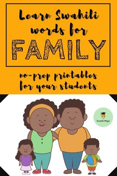 Learning the different names of members of the family is important when you're learning a foreign language. Use these no-prep printable worksheets and videos to learn and practice the words for members of the family in Swahili. #foreignlanguagelearning #languageactivities #teachingforeignlanguage Learning Resources, Student Learning, Teacher Resources, Kids Learning, Vocabulary Activities, Language Activities, Activities For Kids, Learning A Second Language, Teaching Secondary