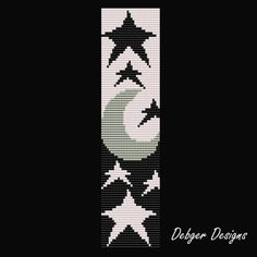 I use Miyuki Delica seed beads size 11 for my designs, but you can chop and change colors and beads as you please.    THIS PDF INCLUDES THE FOLLOWING:    1. A bead legend (bead numbers and colors needed)  2. The pattern design  3. A large, detailed, numbered graph of the pattern.  4. A word chart of the pattern  5. Tips and info    Length:6.95in /17.65cm (101 rows)  Width: 1.70in /4.32cm (32 columns)  Colors:3  Technique:Looming    PLEASE NOTE:  Materials and looming instructions are not…