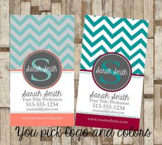 Personal Business Cards by MaryBobbinsBoutique on Etsy, $8.00
