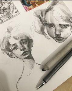 Arte Sketchbook, Art Reference Poses, Art Drawings Sketches, Art Studies, Portrait Art, Aesthetic Art, Cute Art, Art Inspo, Amazing Art