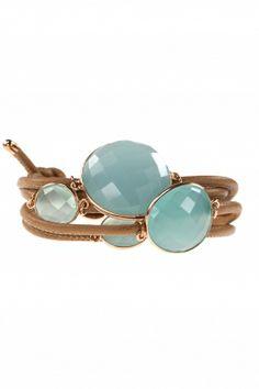 mogul I wrap #leather bracelet with faceted #gemstones I designed by marjana von berlepsch I NEWONE-SHOP.COM