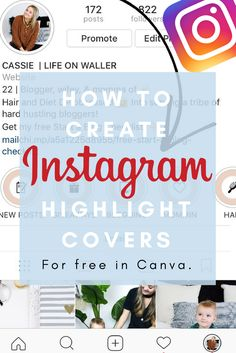 how to create instagram highlight covers in canvas