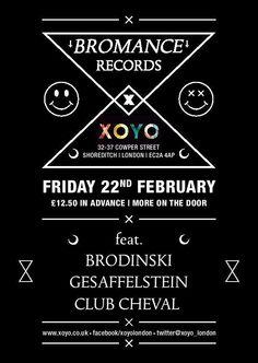 View the Bromance ft Brodinski, Gesaffelstein, Club Cheval flyer