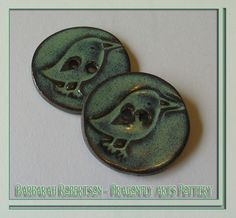 Handmade Buttons - Birdy Buttons by Barbarah Robertson of DragonflyArts - @ Craft Cafe.co