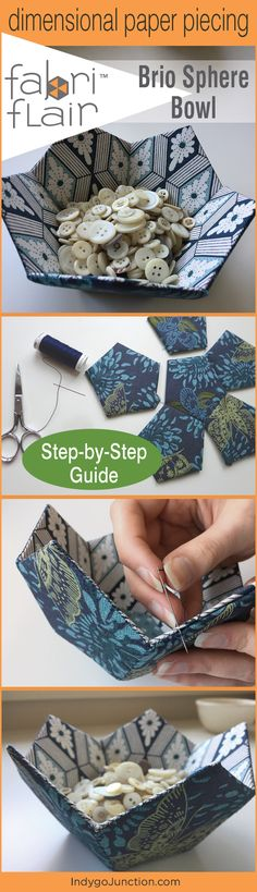 A how-to for the Fabriflair Brio-Sphere,Indygo Junction's beautiful paper pieced dimensional art!