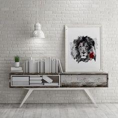 'Lion Rose' #interior #poster #design