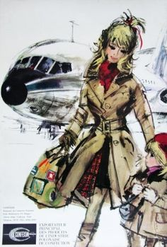 Janusz Grabianski's commercial art work Polish Clothing, Commercial Art, Old Ads, Ciel, Travel Posters, Vintage Advertisements, Vintage Posters, Illustrators, Cool Style