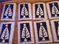Christmas! Simple Christmas Cards, Christmas Crafts For Gifts, Christmas Makes, Christmas Gift Tags, Xmas Cards, Christmas Art, Handmade Christmas, Art Folder, Tampons
