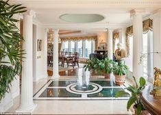 Lavish: The ridiculously lavish Manhattan apartment is spread over three floors and is 8,000sqft