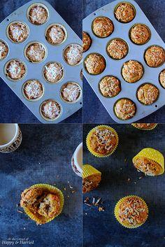 Papaya-Banana-Coconut Muffins (Eggless, Butter Free & Healthy)