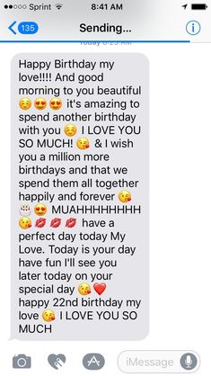 22nd Birthday Quotes, Birthday Quotes For Girlfriend, Happy Birthday Best Friend Quotes, Birthday Message For Boyfriend, Birthday Paragraph For Boyfriend, Birthday Wishes For Love, Happy Birthday Paragraph, Happy Birthday Text, Daddy Birthday