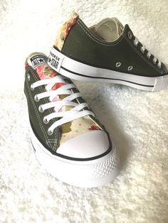 4129acf2497623 Floral Converse Shoes Floral Sneakers Flower Converse