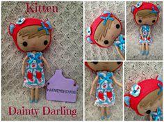 Handmade Felt Dainty Darling  Kitten by HarveyshouseCrafts on Etsy