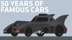 An Animated Look at 50 of the Most Famous TV and Movie Cars From the Last 50 Years With