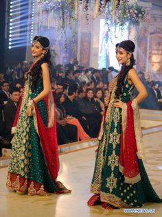 Pantene Bridal Couture Week 2013 Lahore- DAY 2. Mawra & Urwa Hocane