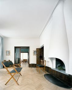 This is a renovated historic home in Berlin.  The marriage between old and new design is simply outstanding.
