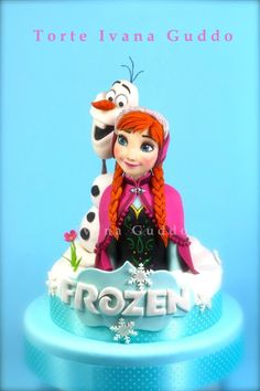 Frozen -Anna and Olaf- cake - Cake by ivana guddo