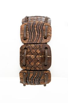 """ON SALE Brown coconut shell bracelet """"Chess"""" polished african gift for him men eco modern hand carved wood carving coconut art exotic - $32.50 USD"""