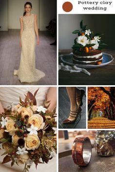 Pottery clay wedding: il colore pantone per il tuo inverno 2016. leggi l'articolo sul blog e scopri come realizzare le tue nozze con questo colore