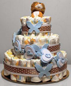 Robe di Robi: Una torta di pannolini per Andrea
