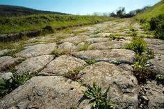 Roman road in the archaelogical park of Sentinum - Sassoferrato - Marche - Italy