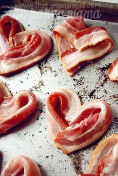 Hearts of Bacon by okcucina.it #Bacon | http://greatfoodphoto.blogspot.com #bacon #foodporn