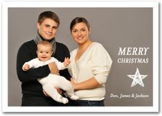 Christmas Photo Cards: Christmas StarHoliday Photo Cards from Announcingit.com - printed on Luster Photo Paper designed to produce the best photo quality - NOT on card stock!