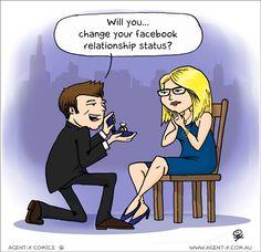The Modern Day Proposal #SocialMediaHumor #Facebook #Humour