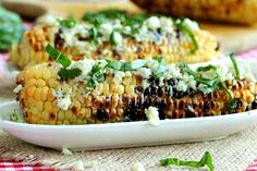 Grilled Corn with Basil and Gorgonzola   30 Delicious Things To Cook In June