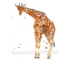 Giraffe Print, giraffe print, African art, safari animals on Etsy, $23.17