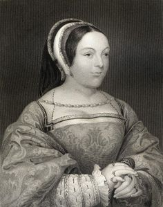 Margaret Tudor 1489-1541 Queen Of Scotland Wife Of Scotland S James Iv, Mother Of James V, Elder Daughter Of England S Henry Vii. From The Book _Lodge S British Portraits_ Published London 1823. Poster Print (26 x 34)