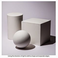 ball, cube and cylinder. – A mathematical object is an abstract object arising… Drawing Practice, Drawing Lessons, Drawing Techniques, Art Lessons, Volume Art, Geometric Shapes Art, Shadow Drawing, Perspective Art, Still Life Drawing